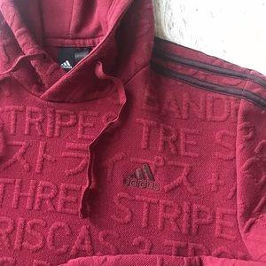 adidas Tops - Adidas maroon sweatshirt with hood